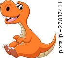 絶滅した 恐竜 マンガのイラスト 27837411