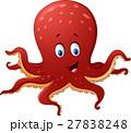 Cartoon smiling octopus 27838248