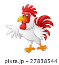 cartoon rooster presenting 27838544
