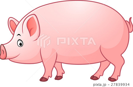 Cartoon happy pig 27839934