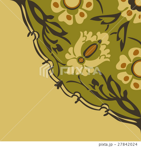 Colorful round floral border corner abstract のイラスト素材 [27842024] - PIXTA
