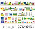 住宅地の家の並び 27846431