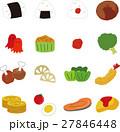 お弁当 セット アイコンのイラスト 27846448