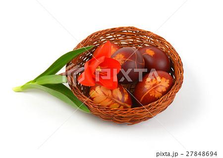 Easter eggs with eco friendly decorationの写真素材 [27848694] - PIXTA