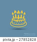 バースデーケーキ 誕生日ケーキ ケーキのイラスト 27852828