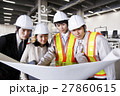 工事 倉庫 建設 工場 建築 打ち合わせ 会議 ミーティング 現場監督 ビジネス 工事現場 27860615