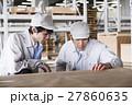 倉庫 工場 打ち合わせ 会議 流通 製造 ビジネス 運送 ミーティング 物流センター 27860635
