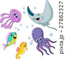 Cute sea life cartoon collection 27862327