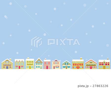 冬風景のイラスト素材 27863226 Pixta