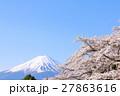 富士山 青空 桜の写真 27863616