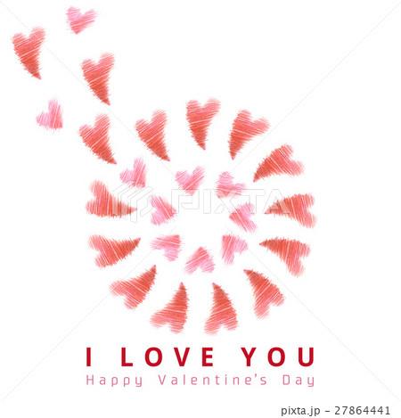 バレンタインのハート 27864441