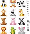 Cartoon funny africa animal 27865852