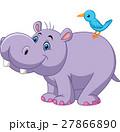カバ 動物 鳥のイラスト 27866890