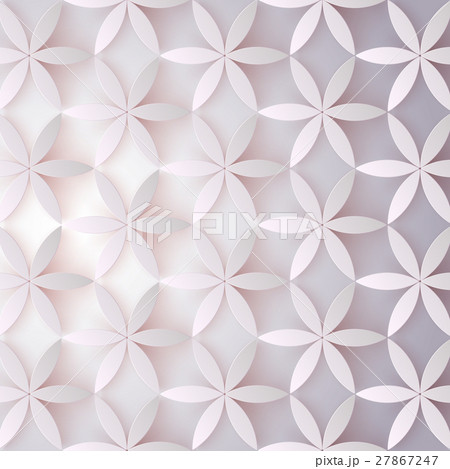 Floral 3d pattern. Abstract flowers with shadows 27867247