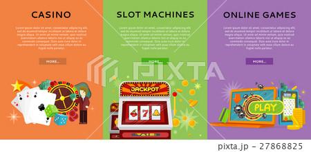 Casino Gambling Website Templates Set 27868825