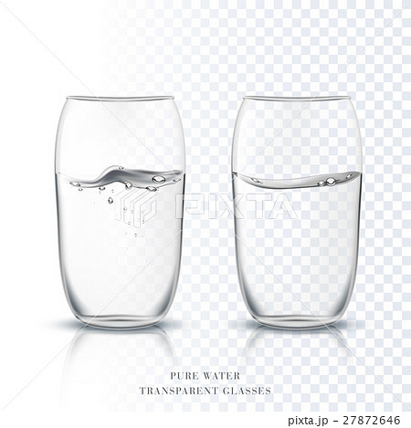 Transparent glasses cup with pure clear waterのイラスト素材 [27872646] - PIXTA