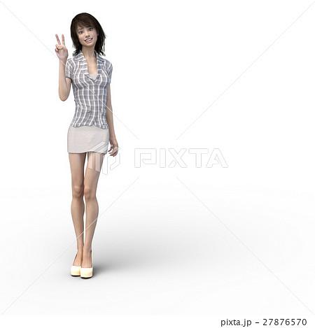 ビジネスウェアの女性 ビジネスウーマン perming3DCGイラスト素材 27876570