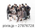 ビジネスグループ 白バックイメージ 27876728