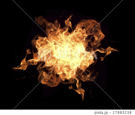 Fire flames on a black background 27883238