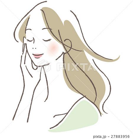 目を閉じる女性 27883956