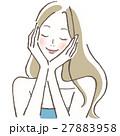 目を閉じる ビューティー 女性のイラスト 27883958