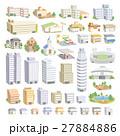 イラストマップ用建物パーツ 27884886