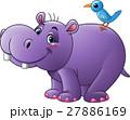 カバ 動物 マンガのイラスト 27886169