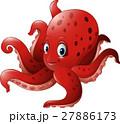 Cartoon smiling octopus 27886173