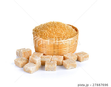 Natural sugar on white backgroundの写真素材 [27887696] - PIXTA