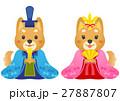犬 柴犬 ひな祭りのイラスト 27887807