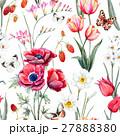 Watercolor vector floral pattern 27888380
