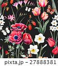 Watercolor vector floral pattern 27888381