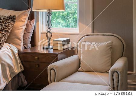 luxury sofa in classic style bedroom interiorの写真素材 [27889132] - PIXTA