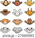 動物 ばんざい  キャラクター向け 27889983