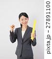 バトンを持つビジネスウーマン 27891100