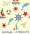 Nautical seamless pattern with ships 27892473
