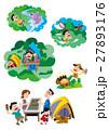 ファミリー旅行、家族旅行、家族でキャンプ 27893176