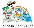 ファミリー旅行、家族旅行、家族で海水浴 27893177