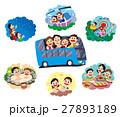家族旅行、バス旅行、バス家族旅行 27893189