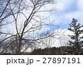 雪山の木と空 戸隠 27897191
