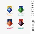 Set of abstract square interface menu navigation 27898680