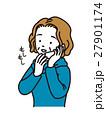 電話で話すおばさま 27901174