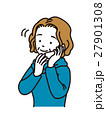 電話で話すおばさま 27901308