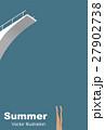 サマーグリーティングカード(ダイビングプール) 27902738