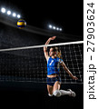 Young girl volleyball player 27903624