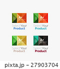 Set of abstract square interface menu navigation 27903704