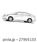 車 自動車 人影のイラスト 27905133