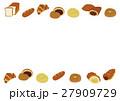 パンのメッセージフレーム素材 27909729