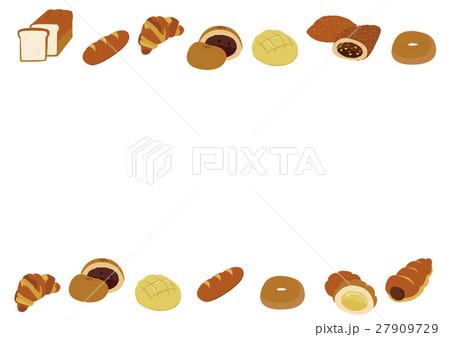 パンのメッセージフレーム素材のイラスト素材 27909729 Pixta