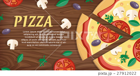 Pizza with Tomatoes, Olives, Mushrooms and Herbs 27912022